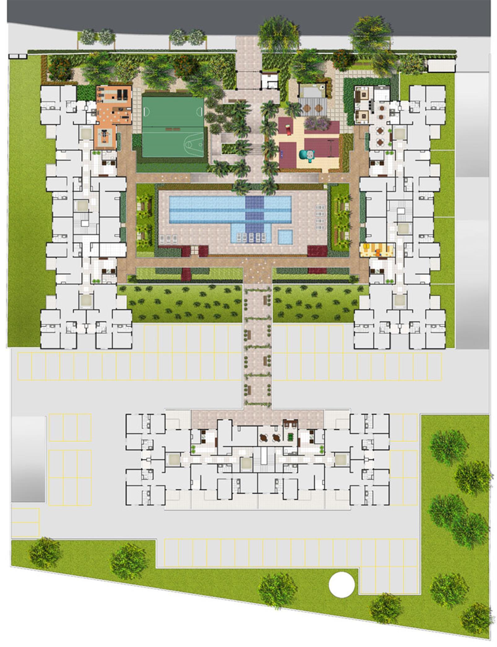 Planta:  | Fatto Club Diadema - Apartamento no Jardim Recanto - Diadema SP