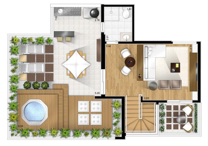 Planta:  | Fatto Alphaville - Apartamento em Alphaville - Barueri SP