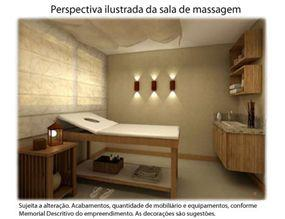 Perspectiva Ilustrada da Sala de Massagem