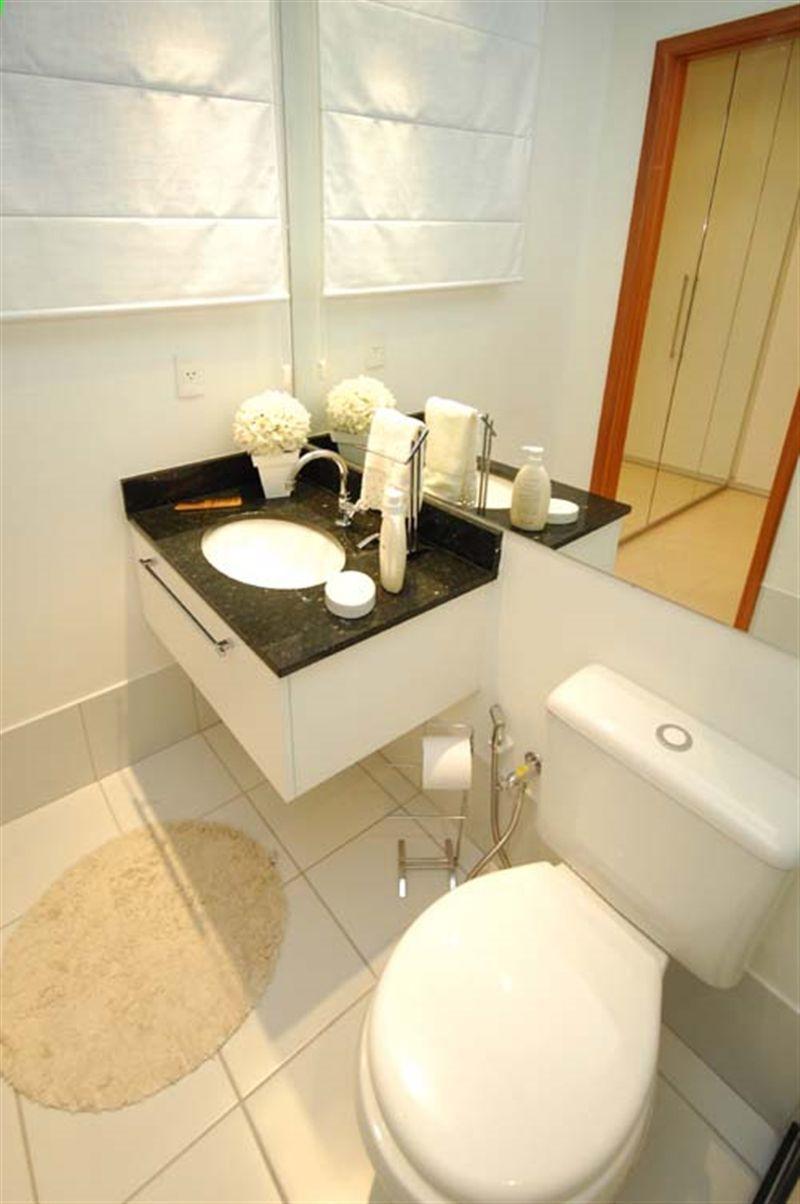 Apartamentos 2 Quartos - Detalhe do Banheiro Social