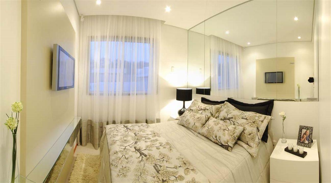 Apartamentos 2 Quartos - Panorâmica da Suíte