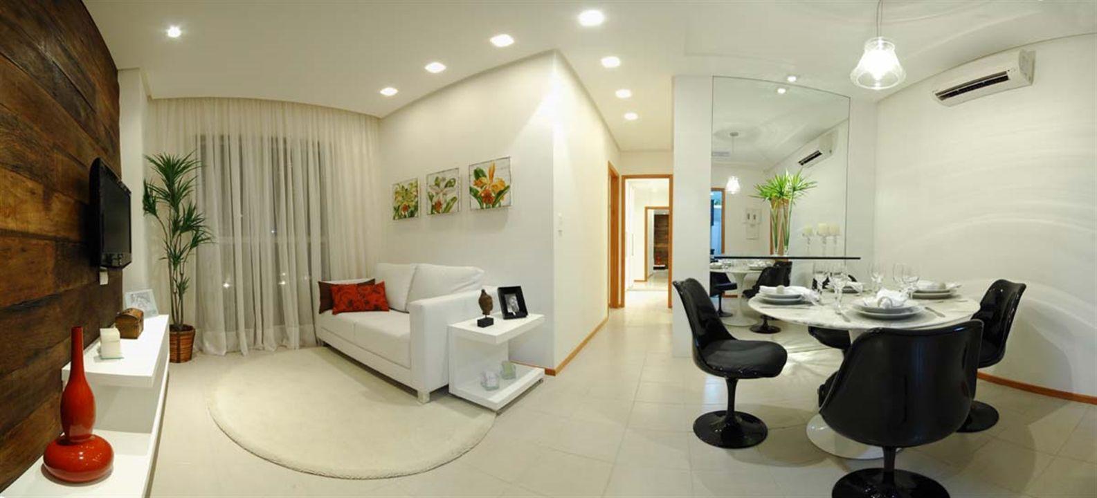 Apartamentos 2 Quartos - Panorâmica das Salas