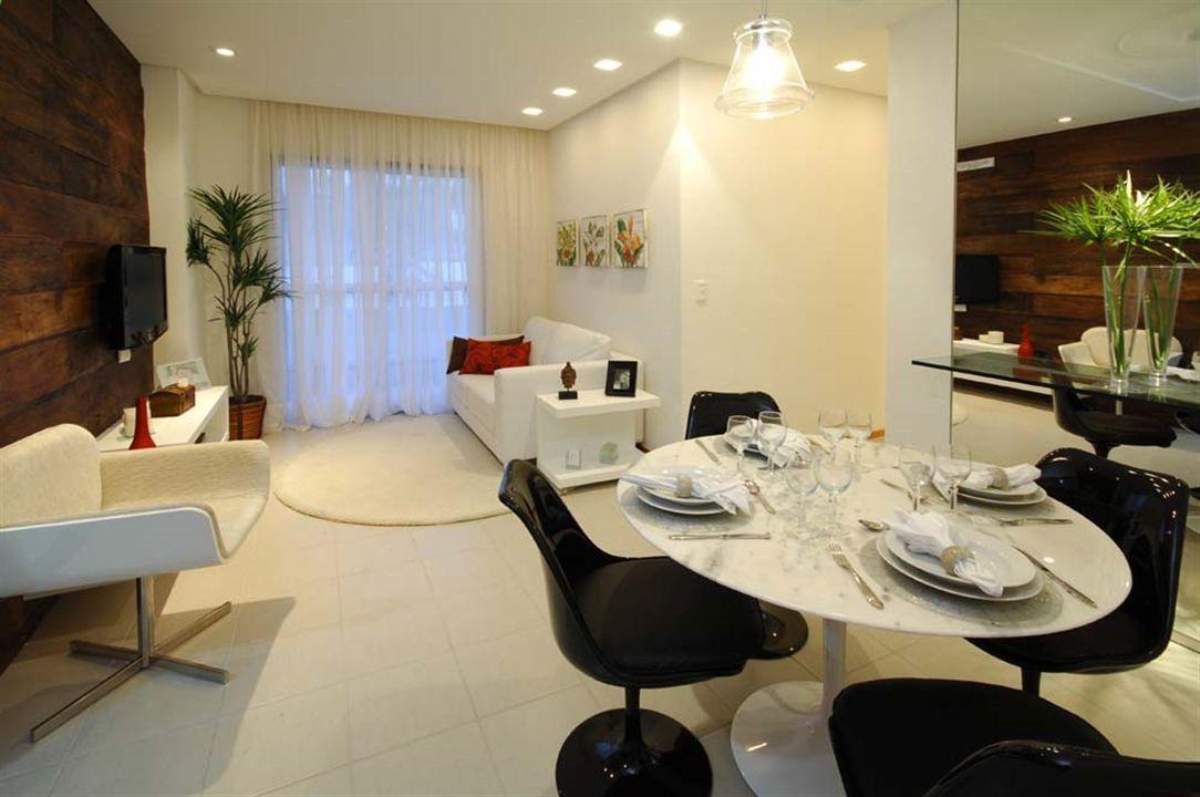 Apartamentos 2 Quartos - Sala de Estar e Jantar