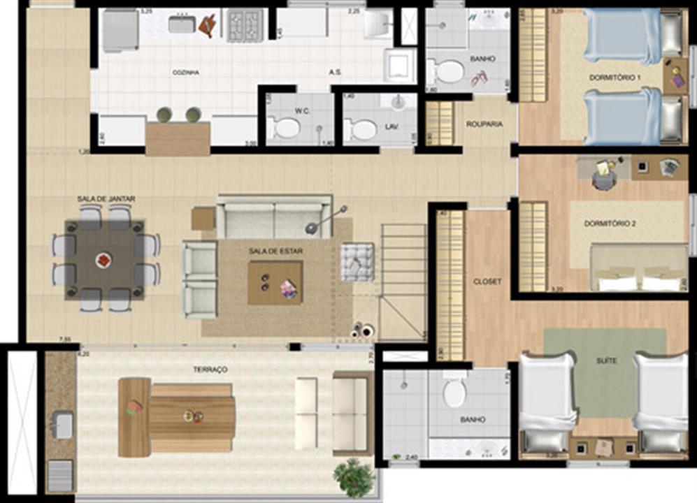 Planta:  | Breeze Family Club - Apartamento na Vila Brandina - Campinas SP