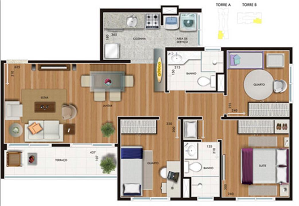 Planta:    Allegro - Apartamento no Centro - Campinas SP