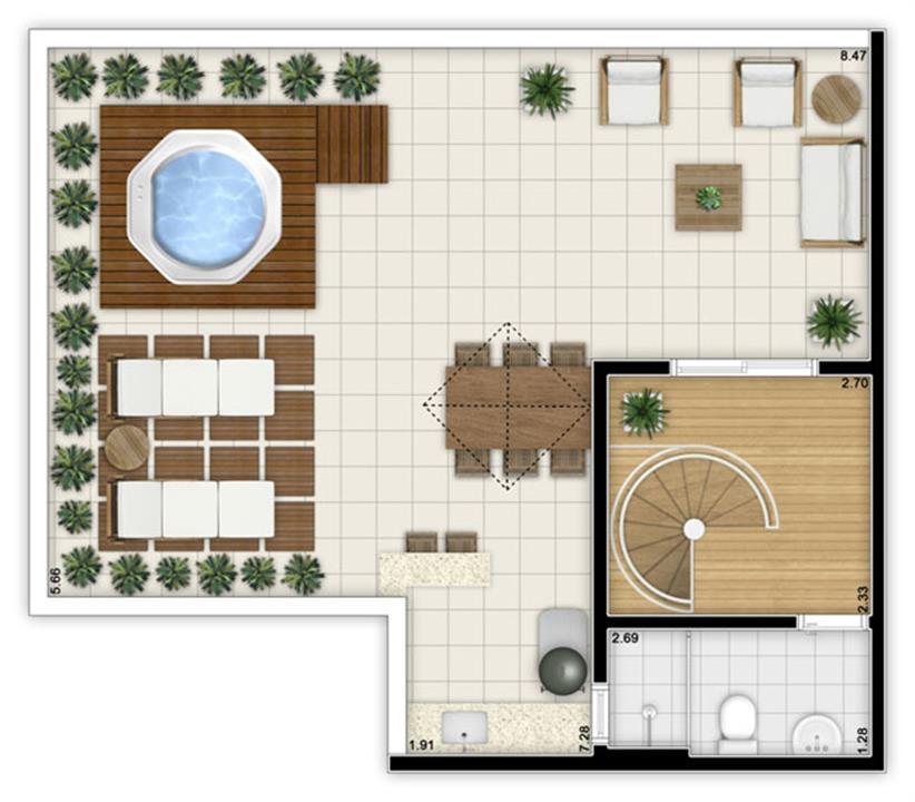 Planta:  | Fatto Jardim Botânico - Fase 1 e 2 - Apartamento no Jardim Celeste - São Paulo SP