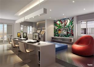 Perspectiva Ilustrada do Salão de Jogos com Lan House