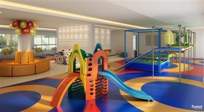 Perspectiva Ilustrada do Salão de Festas Infantil