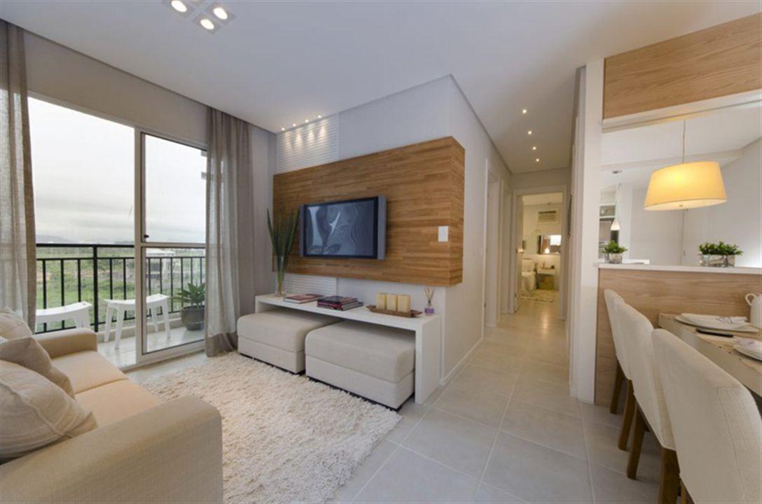 Apartamento em serra es villaggio manguinhos living for Dormitorio sala