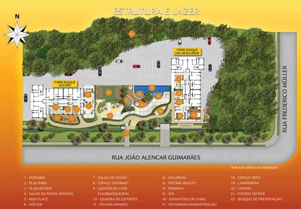Planta:    Reserva do Bosque - Apartamento no Santa Quitéria - Curitiba PR