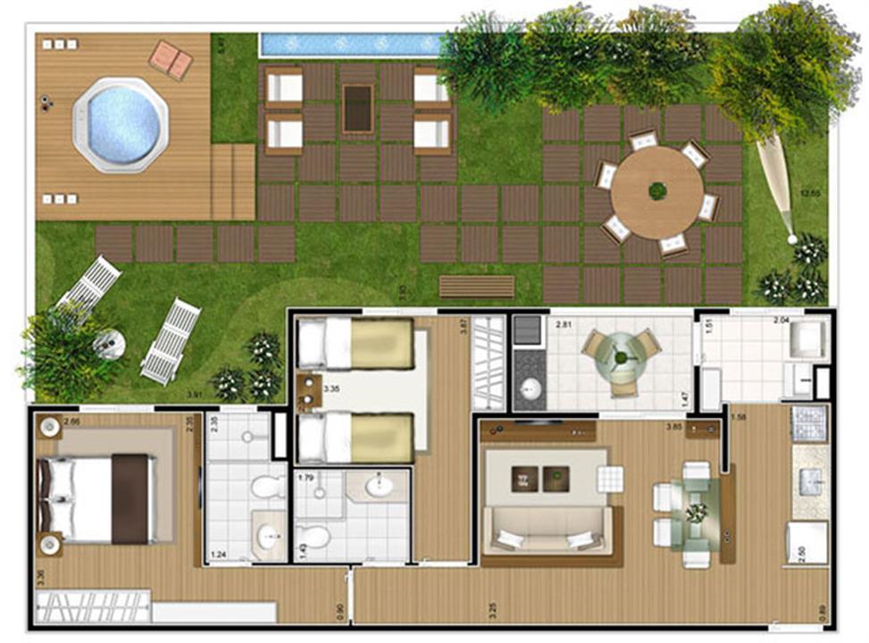 Planta:  | Fatto Mansões - Apartamento em Mansões - Campinas SP