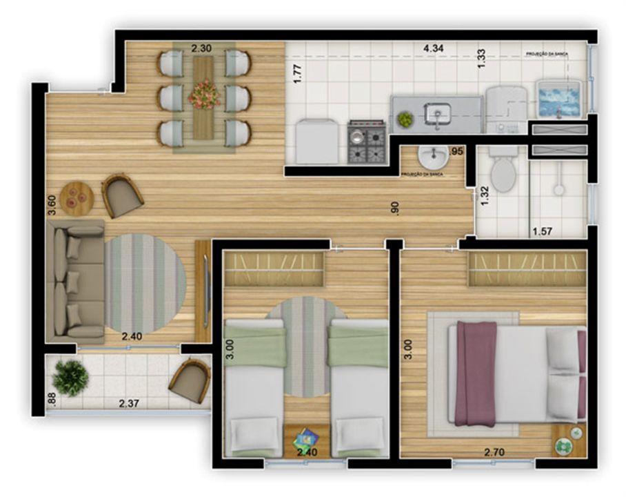Planta:  | Mais Cangaíba - Apartamento em Cangaíba - São Paulo SP