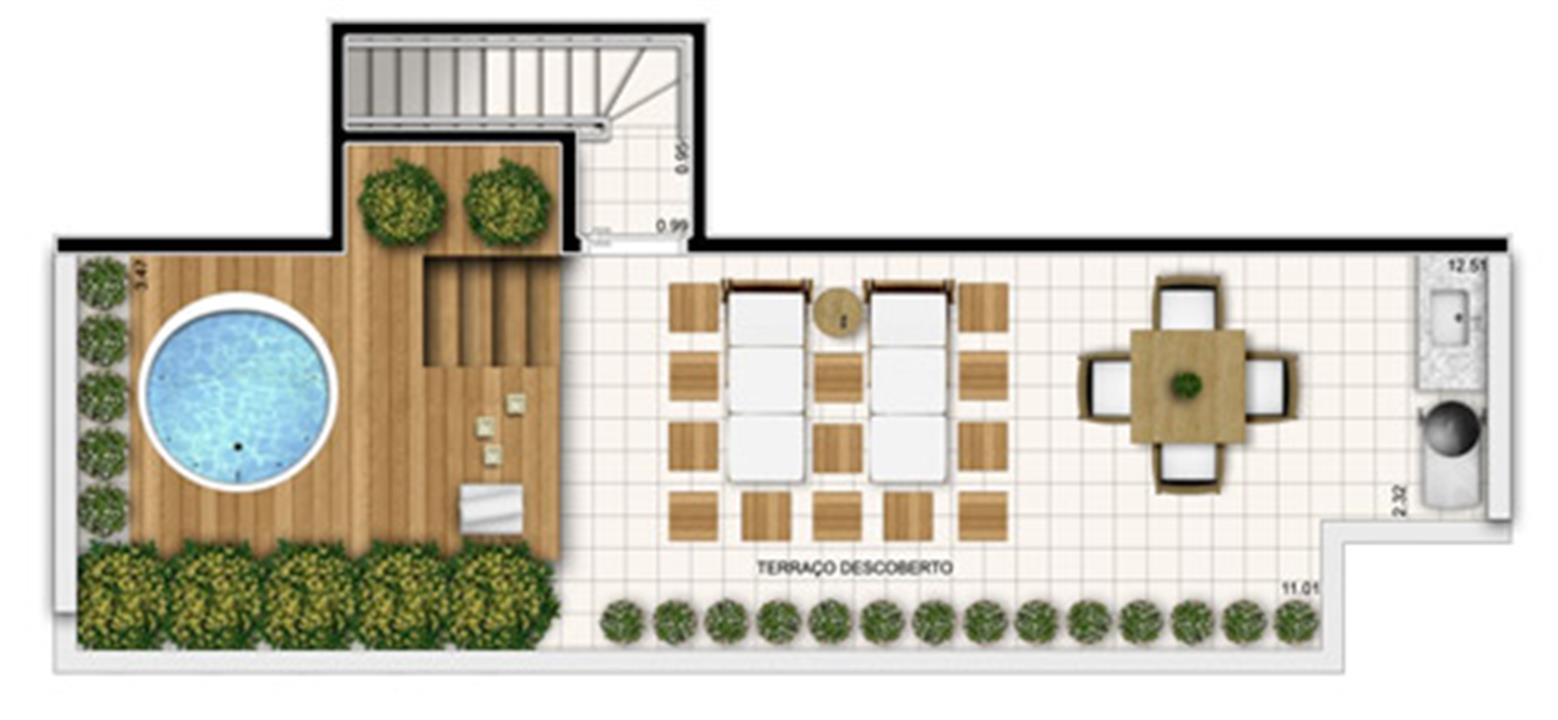 Planta:  | Fatto Exclusive Morumbi - Apartamento no Morumbi - São Paulo SP