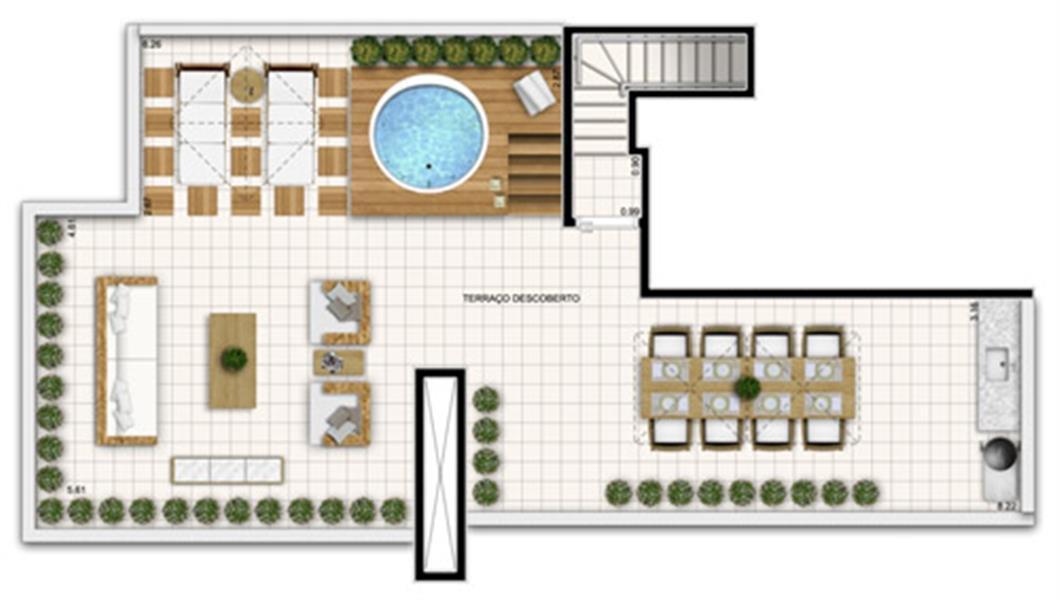 Planta:  | Fatto Exclusive Morumbi - Apartamento no Morumbi - São Paulo São Paulo
