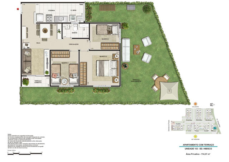 Planta:  | West Residencial - Apartamento em Campo Grande - Rio de Janeiro Rio de Janeiro