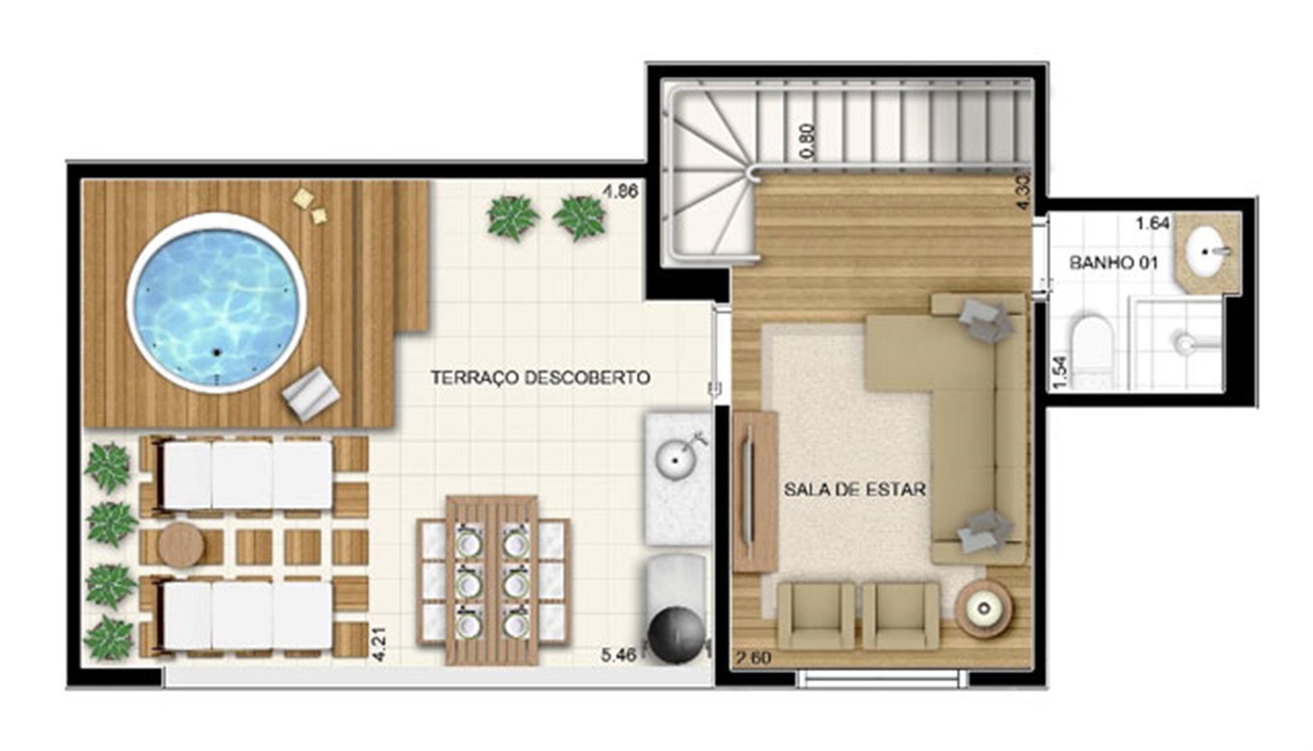 Planta:    Fatto Passion Vila Augusta - Apartamento no Centro - Guarulhos São Paulo