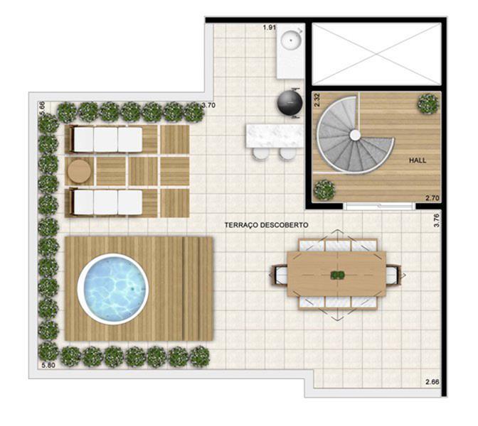 Planta:  | Fatto Jd Botânico - Fase 3 - Apartamento no Jardim Celeste - São Paulo São Paulo
