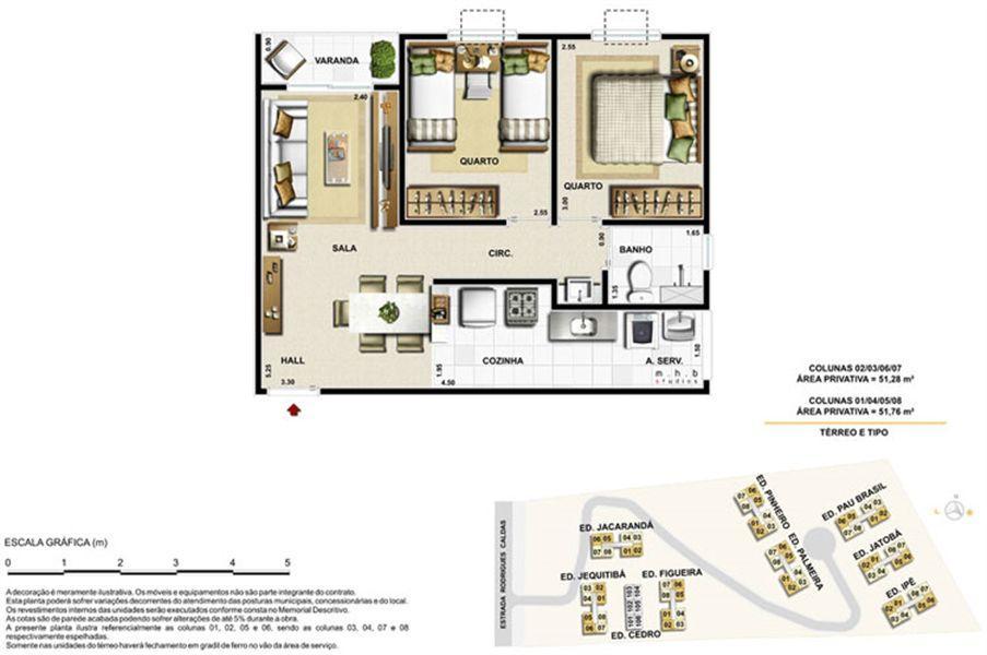 Planta:    Vert Vita Bosque Residencial - Apartamento em Jacarepaguá - Rio de Janeiro Rio de Janeiro