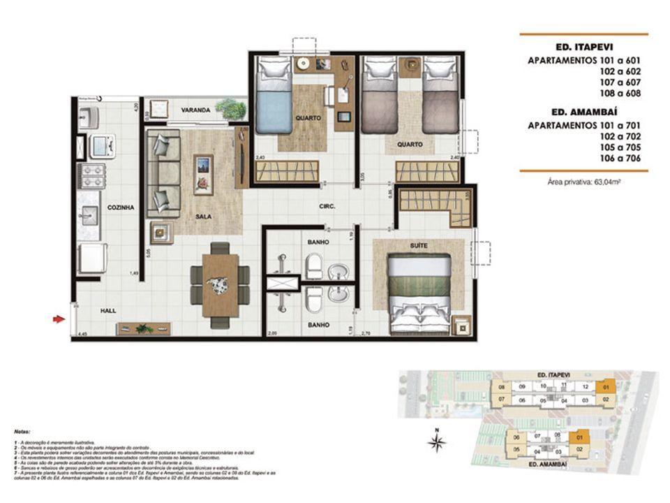 Planta:  | Pleno Méier Residencial - Apartamento no Engenho de Dentro - Rio de Janeiro RJ