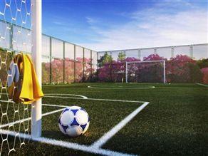 Perspectiva Ilustrada do Campo de Futebol