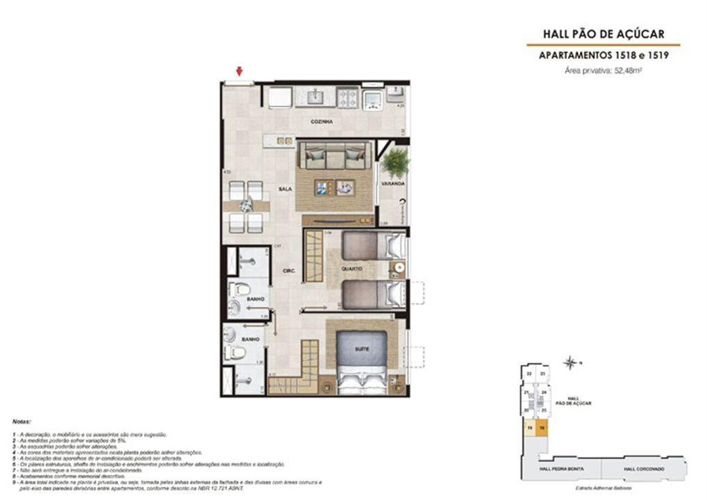 Planta:  | Rio Parque - Rio Residencial - Apartamento no Del Castilho - Rio de Janeiro RJ