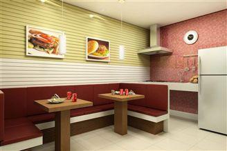 Perspectiva ilustrada hamburgueria