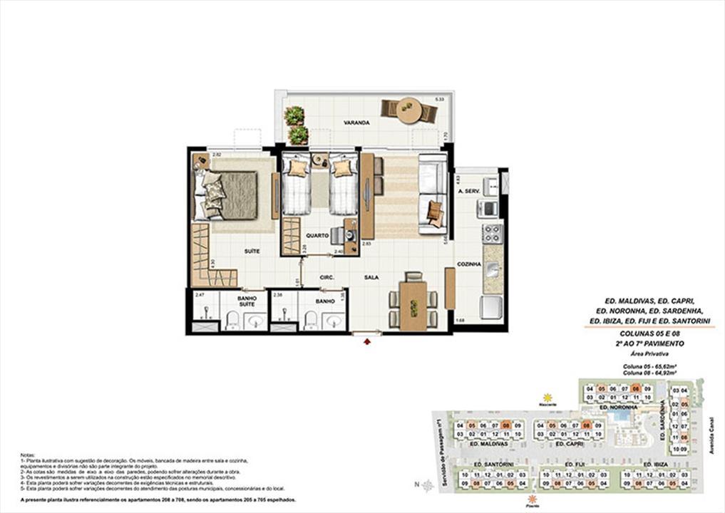 Planta AP08 | Ocean Pontal Residence – Apartamentono  Recreio dos Bandeirantes - Rio de Janeiro - Rio de Janeiro