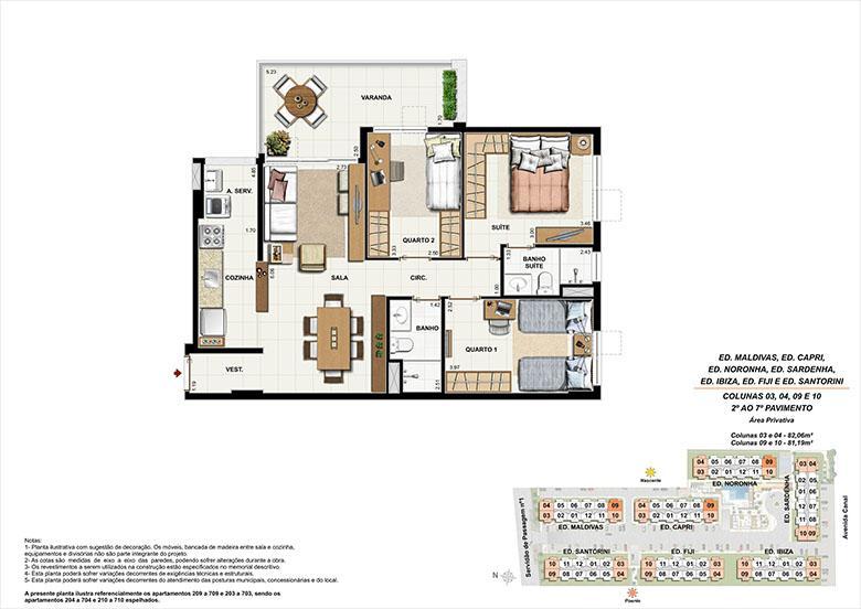 Planta AP09 | Ocean Pontal Residence – Apartamento no  Recreio dos Bandeirantes - Rio de Janeiro - Rio de Janeiro