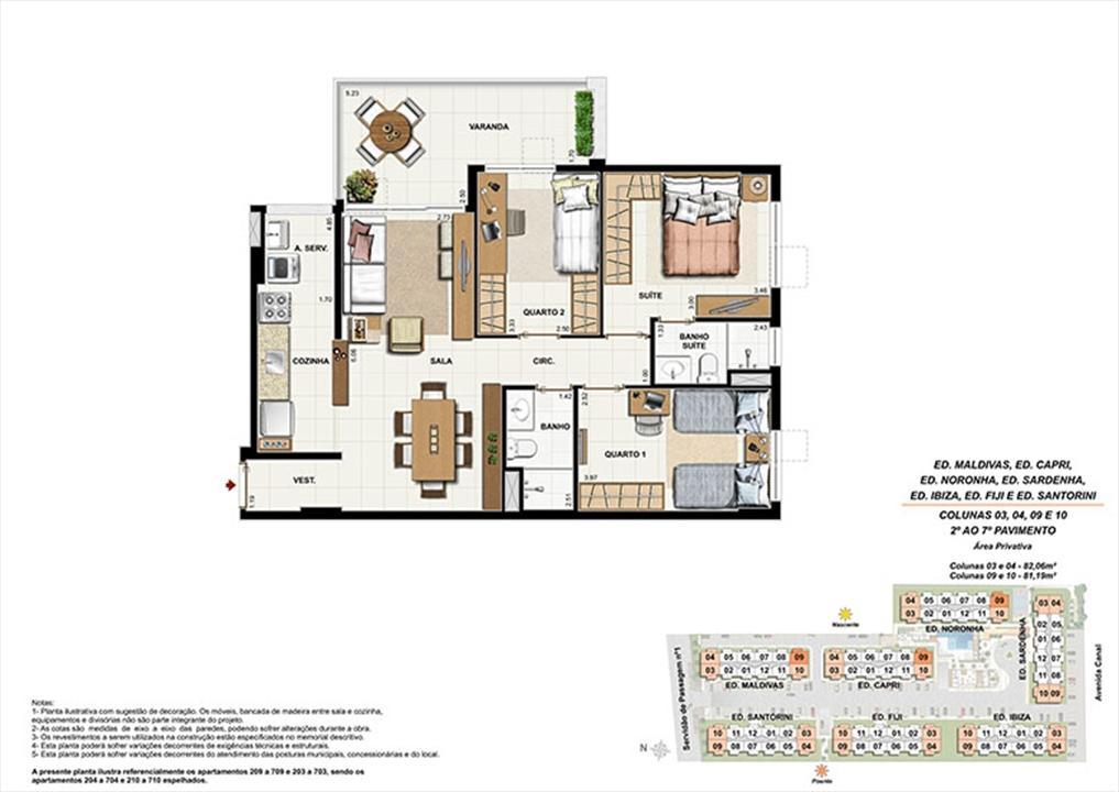 Planta AP09 | Ocean Pontal Residence – Apartamentono  Recreio dos Bandeirantes - Rio de Janeiro - Rio de Janeiro