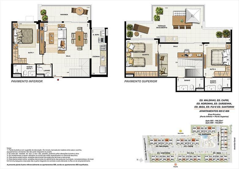 Planta CB08 | Ocean Pontal Residence – Apartamento no  Recreio dos Bandeirantes - Rio de Janeiro - Rio de Janeiro