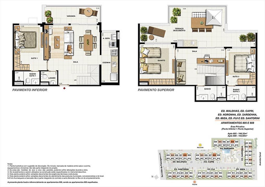 Planta CB08 | Ocean Pontal Residence – Apartamentono  Recreio dos Bandeirantes - Rio de Janeiro - Rio de Janeiro