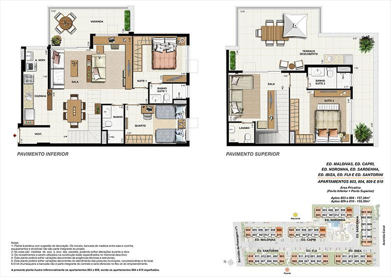 Planta CB09 | Ocean Pontal Residence – Apartamento no  Recreio dos Bandeirantes - Rio de Janeiro - Rio de Janeiro