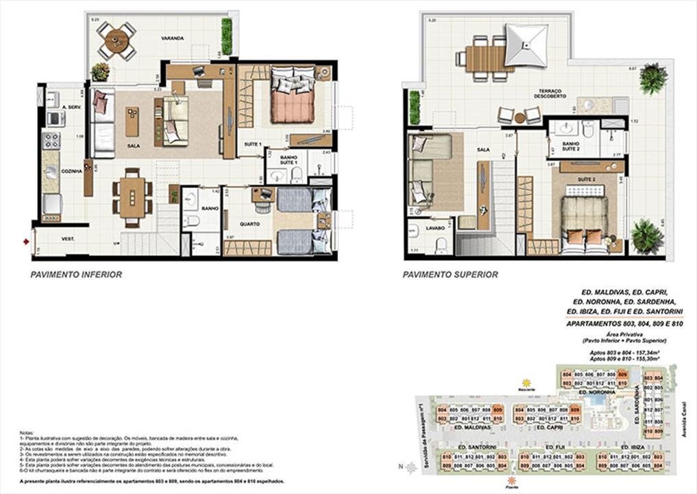 Planta CB09 | Ocean Pontal Residence – Apartamentono  Recreio dos Bandeirantes - Rio de Janeiro - Rio de Janeiro