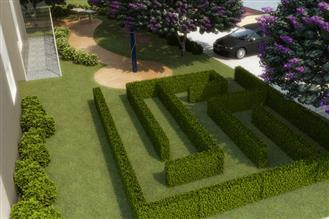 Perspectiva ilustrada labirinto
