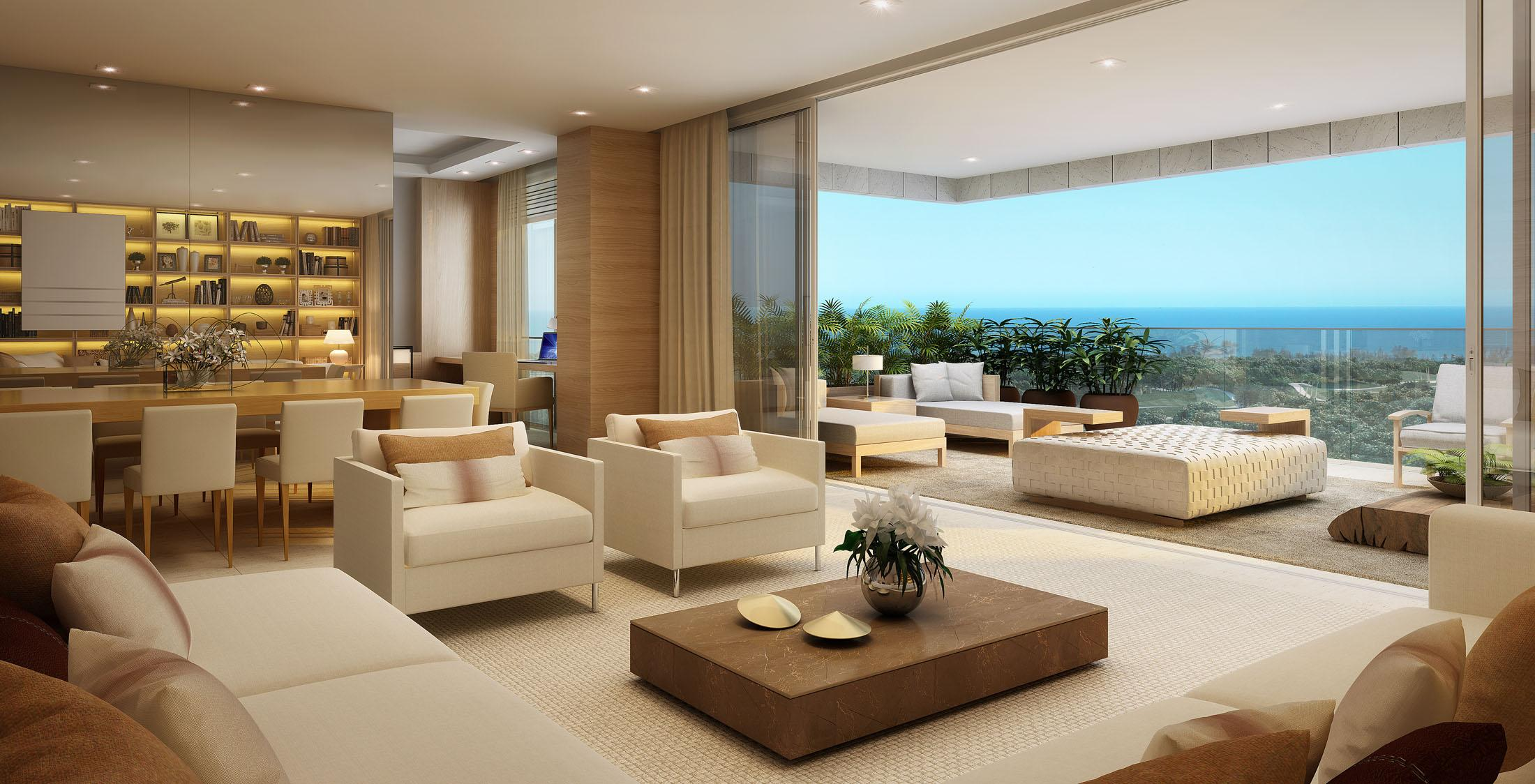 Apartamento riserva golf na barra da tijuca rj cyrela for Sala de estar gourmet