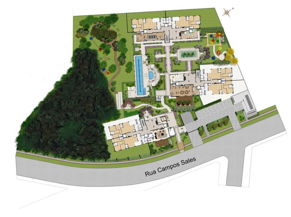 Implantacao | Grand Vert – Apartamentono  Juvevê - Curitiba - Paraná