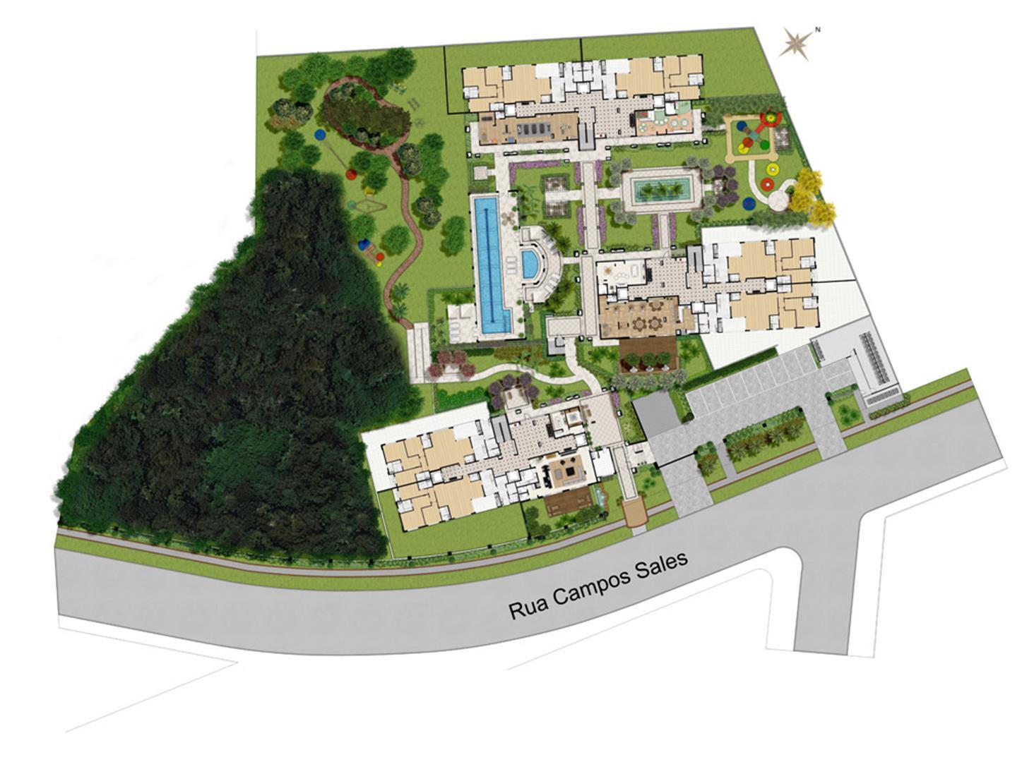 Implantacao | Grand Vert – Apartamento no  Juvevê - Curitiba - Paraná