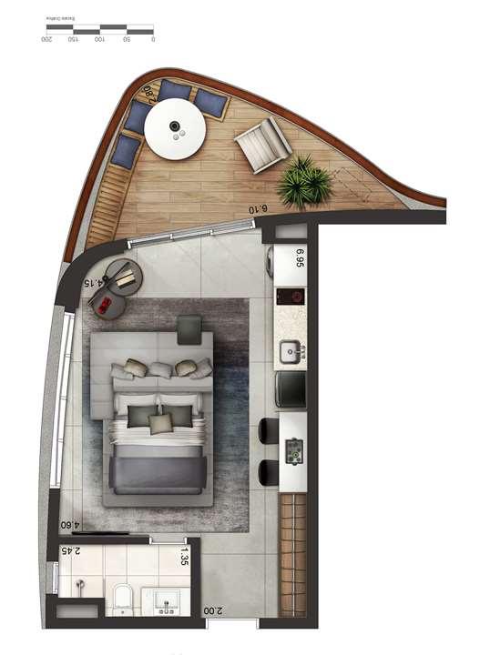 Apartamento tipo 4 - layout A P4 | Cyrela by Pininfarina – Apartamentona  Vila Olímpia - São Paulo - São Paulo