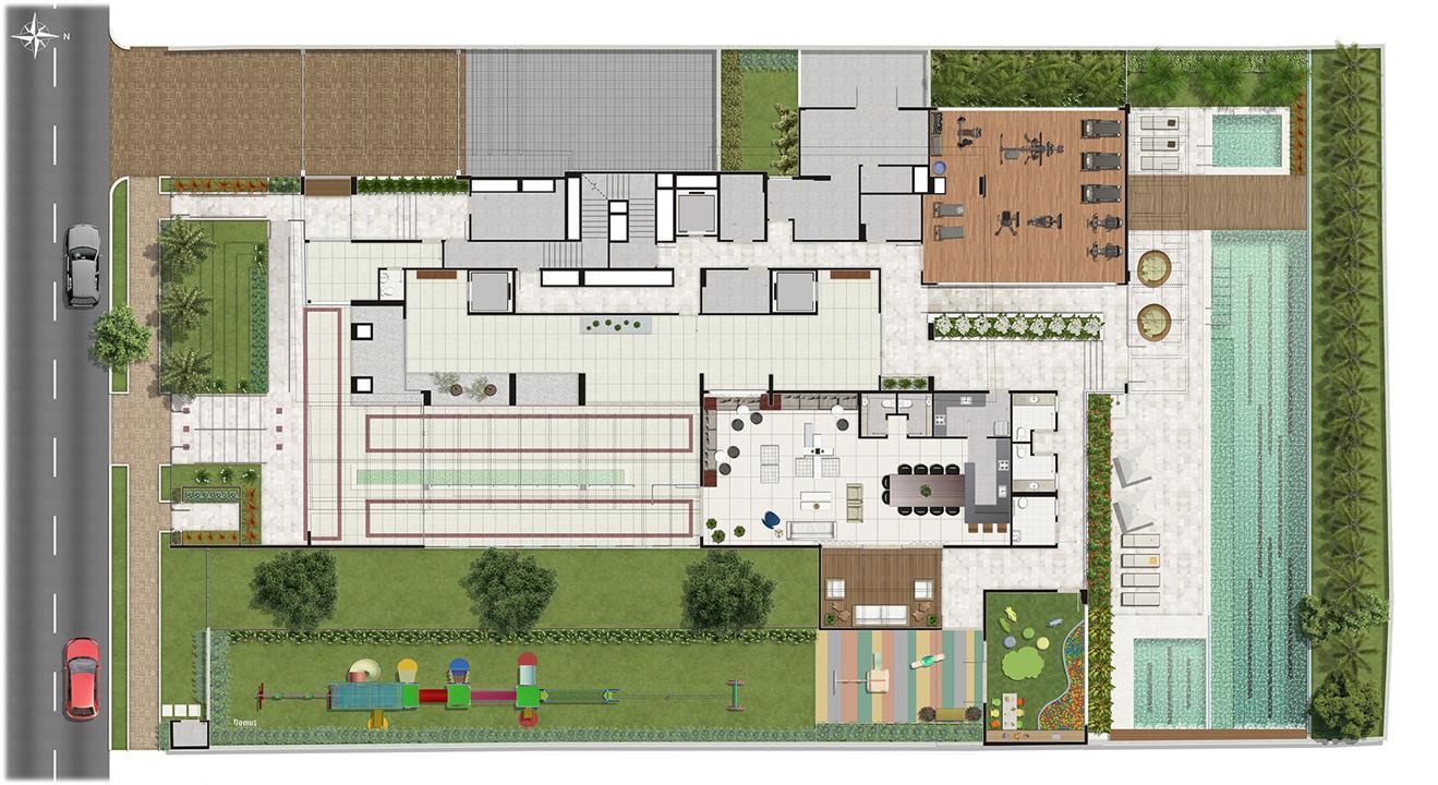 Perspectiva ilustrada da implantação | Storia Vila Clementino by Cyrela – Apartamentona  Vila Clementino - São Paulo - São Paulo