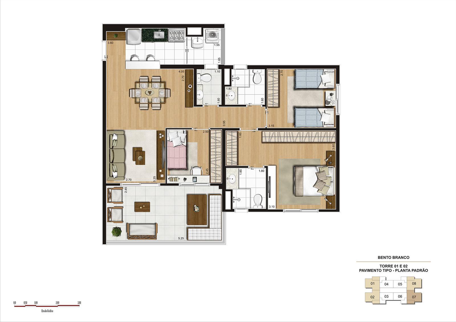 PLANTA 92M² PADRÃO | Panamerica Brickell – Apartamento em  Santo Amaro - São Paulo - São Paulo