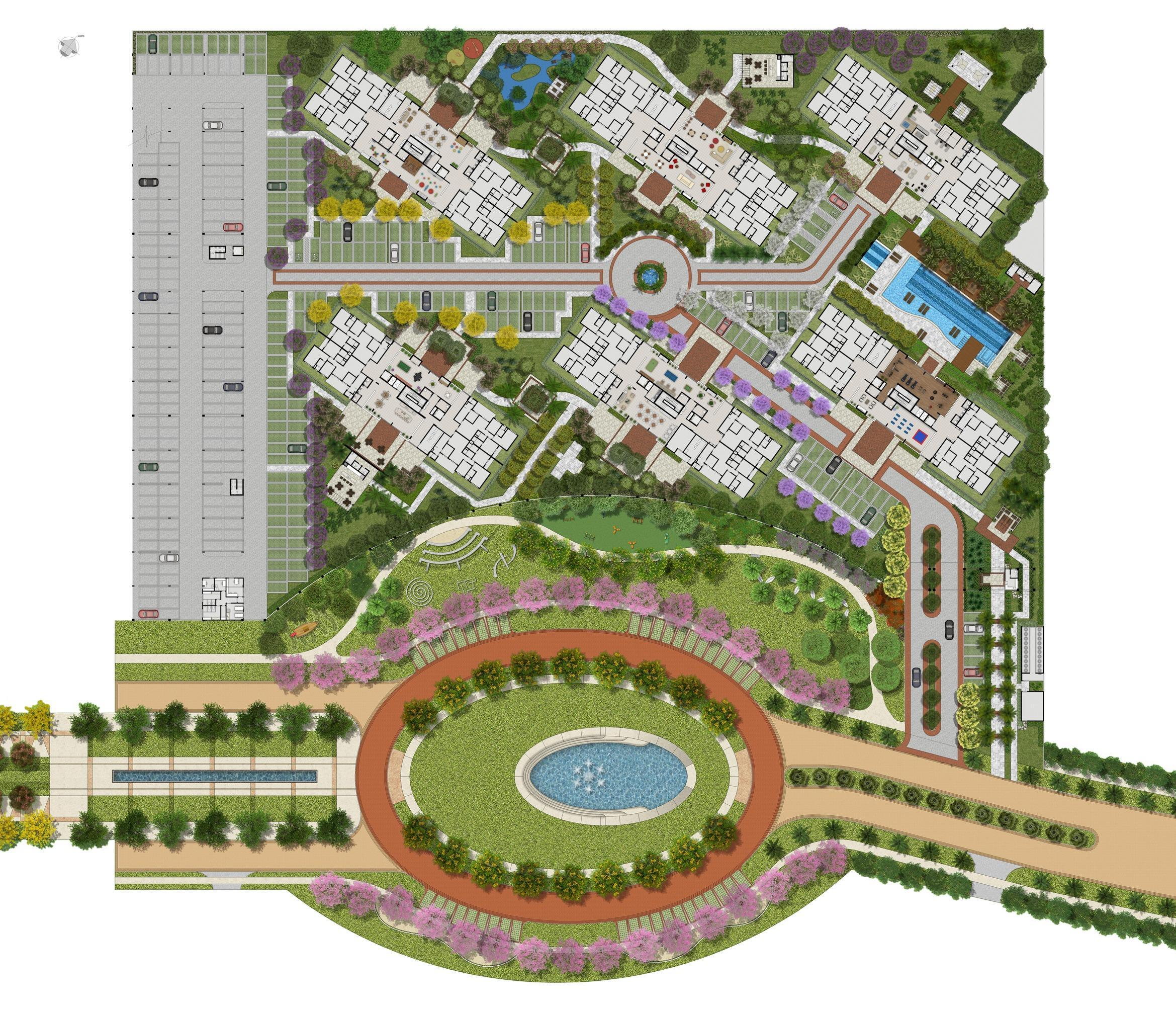Implantação | Jardim de Valencia – Apartamentono  Parque Verde - Belém - Pará