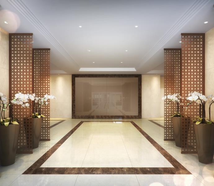 Elegância e estética na perspectiva ilustrada do Lobby.