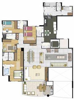 Apartamento de 213 m² - Andar par | Reserva Grann Parc – Apartamento no  Jardim Goiás - Goiânia - Goiás