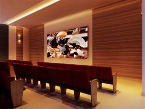 Perspectiva ilustrada da sala de cinema