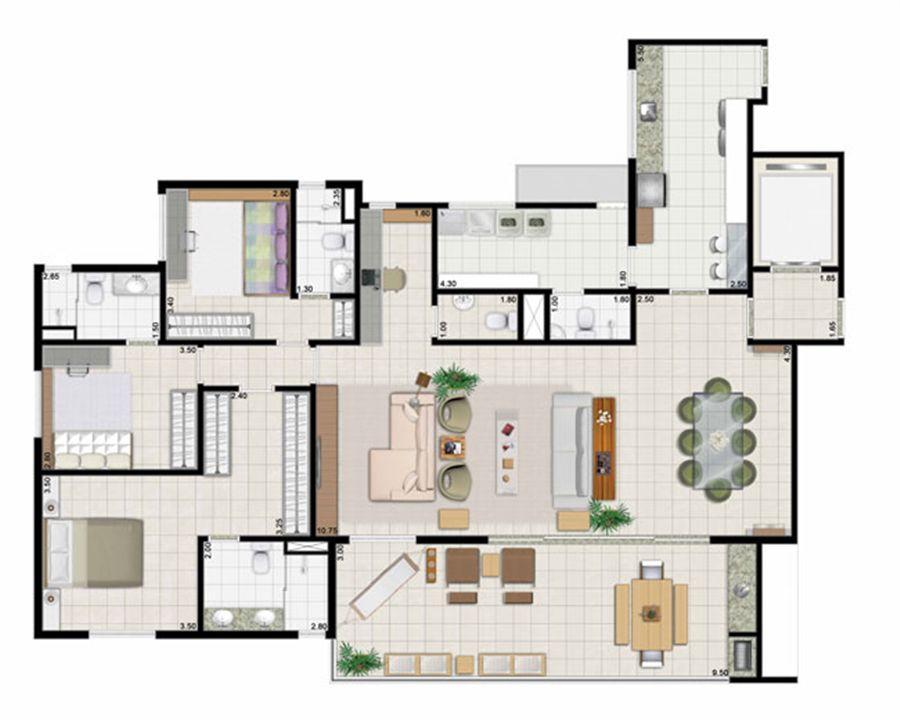 3 suítes living ampliado - 187 m² | Farol da Ilha – Apartamentona  Ponta D'areia - São Luís - Maranhão