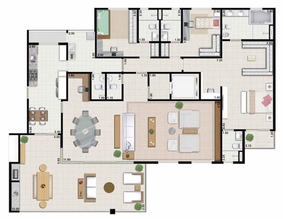3 suítes living ampliado - 239 m² | Farol da Ilha – Apartamentona  Ponta D'areia - São Luís - Maranhão
