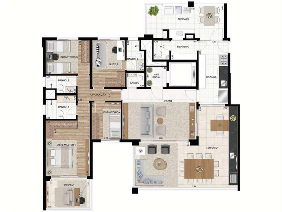 Apto. de 172 m2 - 2 Suítes (4 dorms) | Le Premier Moema – Apartamentoem  Moema - São Paulo - São Paulo