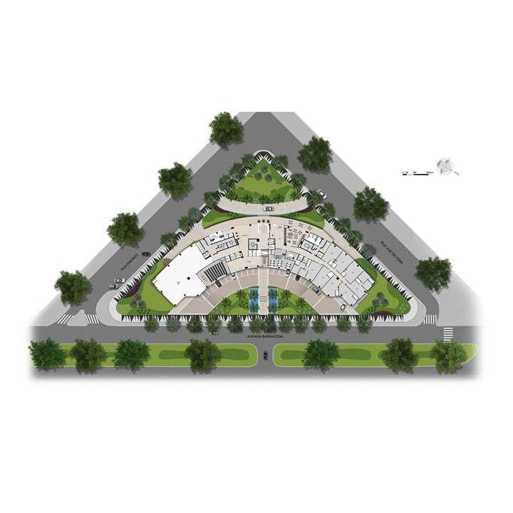 Planta 2º Pavimento | MedPlex Belo Horizonte – Salas Comerciaisno  Santo Agostinho  - Belo Horizonte - Minas Gerais