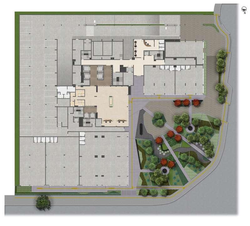 Implantação Térreo | Medplex Eixo Norte – Salas Comerciaisna   Av. Assis Brasil - Porto Alegre - Rio Grande do Sul