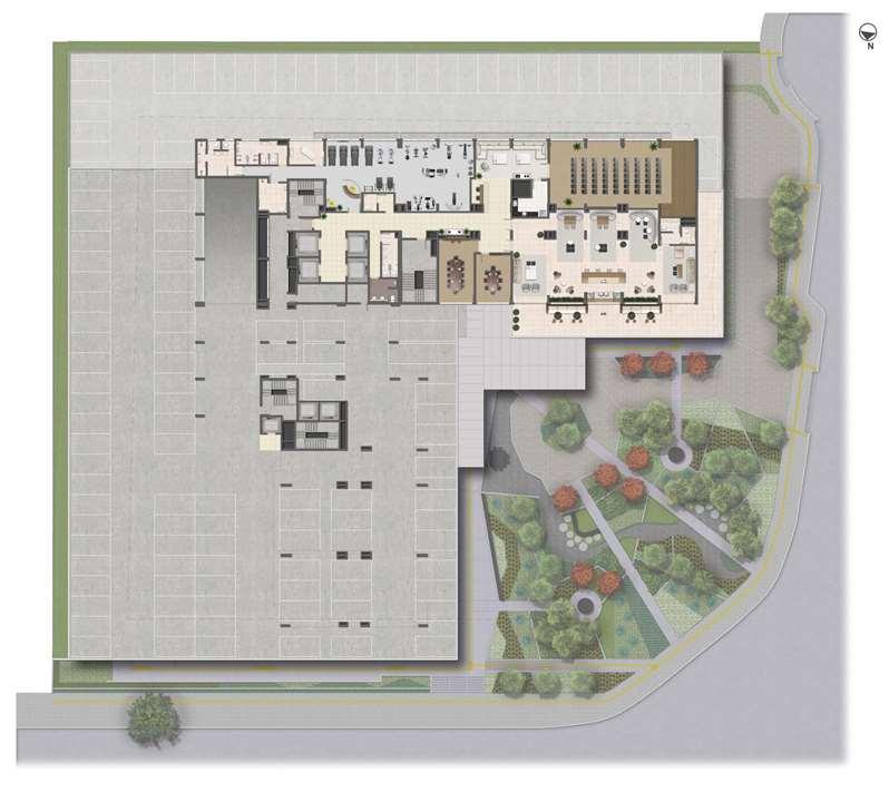 Implantação - 4º Pavimento | Medplex Eixo Norte – Salas Comerciaisna   Av. Assis Brasil - Porto Alegre - Rio Grande do Sul